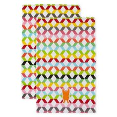 Oui by French Bull™ Vee Set of 2 Dish Towels  found at @JCPenney
