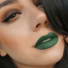 "This green looks better than a crisp $100 bill  . /msquinnface/ wearing ""Ivy"" by #ColouredRaine #colouredraine #cosmetics #eyes #lips #lipstick #liquidlipstick #makeup #makeupartist #sexy #flawless #vegan #eyeshadow #women #beauty #beautiful #fabulous #crueltyfree #autumn #fall #fashion #Ivy #green #mua"