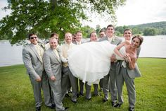 lol little does Blake know that him and his groomsmen will be holding me! this is cute!