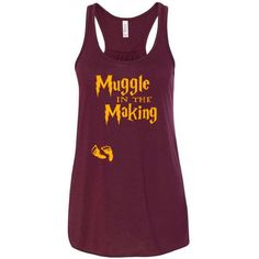 Hey, I found this really awesome Etsy listing at https://www.etsy.com/listing/506393114/maternity-raceback-tank-muggle-in-the