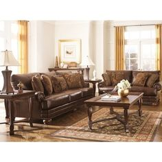 durablend sofa black tufted signature design by ashley chaling love seat in antique brown living room sets formal
