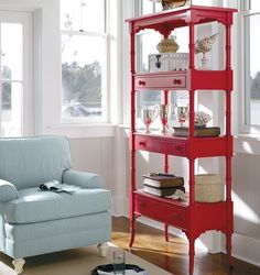 Love this! So clever, plus I like painted furniture.