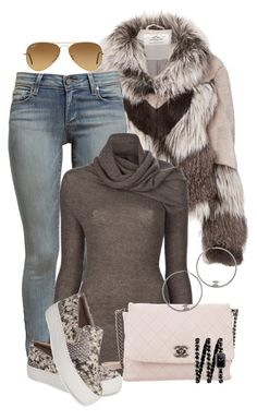 """""""My#Style"""" by mane-style ❤ liked on Polyvore featuring Urbancode, Paige Denim, ISABEL BENENATO, Chanel, Steve Madden and Ray-Ban"""