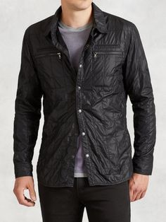 Quilted Shirt Jacket Was $198 Now $79 At John Varvatos Slim fit shirt jacket two zip chest pockets snap front https://api.shopstyle.com/action/apiVisitRetailer?id=526925738&pid=uid841-37799971-81