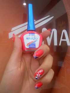 Masglo Nails Crazy Nails, Fun Nails, Pretty Nails, Nailart, Makes You Beautiful, Make Up, Make It Yourself, Nail Decorations, Tips Belleza