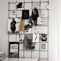 bastelideen pinnwand selber machen pinnwand basteln The post bastelideen pinnwand selber machen pinn Metal Grid, Diy Casa, Home And Deco, Office Organization, Office Storage, My New Room, Interior Inspiration, Stil Inspiration, Moodboard Inspiration