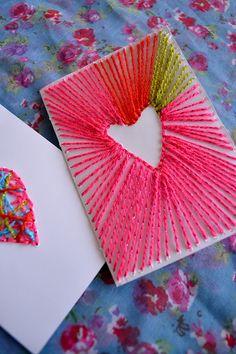 Lovely Wren - String Art Cards for Valentine's Day