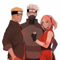 Naruto Uzumaki, Anime Naruto, Naruto Cool, Naruto And Sasuke Kiss, Naruto Team 7, Naruto Fan Art, Kakashi Sensei, Anime Fnaf, Sakura And Sasuke
