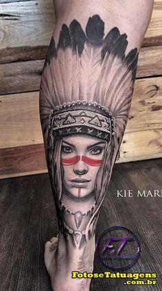 55 Ideias de Tatuagens masculinas na perna - Fotos e Tatuagens