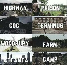 TWD Universe. Highway. CDC. Farm. Camp. The Walking Dead.