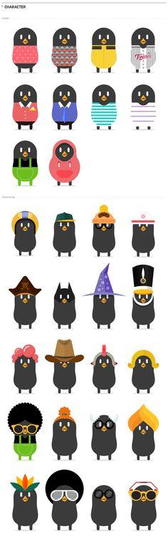 LG webOS Facebook App / CHARACTER - Facebook Applicatoin. Mobile Web. Make Your Beanbird.