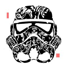 Storm Trooper Style stencil template