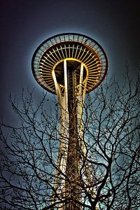 Architecture Photograph - The Seattle Space Needle Iv by David Patterson