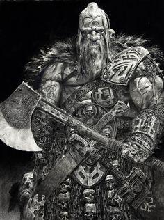 Viking Art of adrian smith Viking Warrior Tattoos, Les Runes, Adrian Smith, Nordic Tattoo, Norse Vikings, Viking Age, Warhammer Fantasy, Norse Mythology, Fantasy Warrior