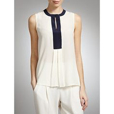 Introducing Somerset by Alice Temperley: SS13 Collection - Contrast trim silk top #johnlewis #fashion