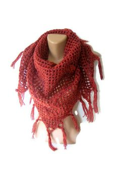SALE hand crocheted shawlwomen shawlstolewrapWOOLfashion by seno, $60.00