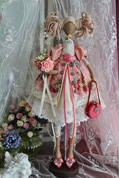 """Купить кукла тильда """"Виктория"""" - коралловый, кукла ручной работы, кукла в…"""