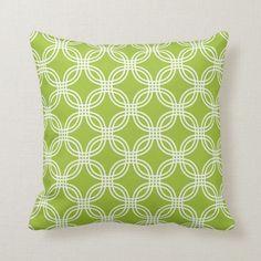 Shop Lime Green Circle Trellis Pattern Throw Pillow created by ThrowPillowNest. Green Throw Pillows, Diy Pillows, Custom Pillows, Decorative Pillows, Diy Pillow Covers, Green Home Decor, Trellis Pattern, Muslin Fabric, Lime