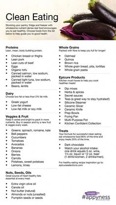to Eat Clean; I personally don t advocate a lot of grains/agriculture for th How to Eat Clean; I personally dont advocate a lot of grains/agriculture for thHow to Eat Clean; I personally dont advocate a lot of grains/agriculture for th Healthy Tips, Healthy Choices, Healthy Snacks, Healthy Recipes, Healthy Carbs List, Grocery List Healthy, Clean Eating Grocery List, Healthy Mean Plan, Healthy Weight