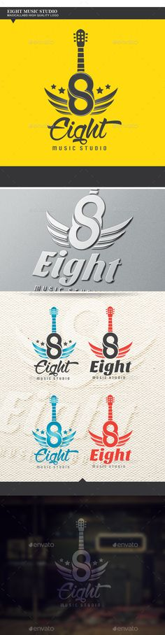 Buy Eight Music Studio Logo by magicallabs on GraphicRiver. Eight Music Studio Fully Editable Vector Ai, EPS, PSD vector (resizable) CMYK color PSD organized layer Easy col. Music Room Organization, Music Education Lessons, Music Studio Room, Sound Studio, Lyric Tattoos, Logo Creation, Rock Songs, Best Logo Design, Graphic Design