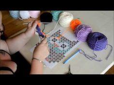 Crochet C2C tuto changement de fils et couleurs en francais - YouTube