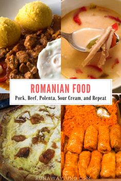 Romanian Food: Pork, Beef, Polenta, Sour Cream, and Repeat Sicilian Recipes, Greek Recipes, Soup Recipes, Gnocchi, Romanian Food, Romanian Recipes, Keto Broccoli Cheese Soup, India Food, Dessert Bread