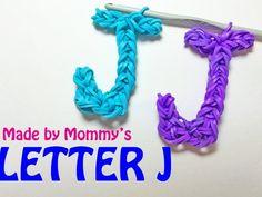 Rainbow Loom Letter J Charm Using Just the Hook