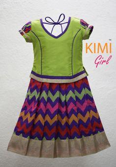#kids #choli #pattu #pavadai #girls #silk #traditional #designer #creative #indian #lehenga #kidswear #skirt #trendy #children #clothes #new #stylish #kimi #dresses #partywear #apparel #fashion #readymade #girl Indian Dresses For Girls, Little Girl Dresses, Baby Dresses, Girls Dresses, Frock Patterns, Baby Dress Patterns, Kids Lehenga, Baby Lehenga, Indian Lehenga
