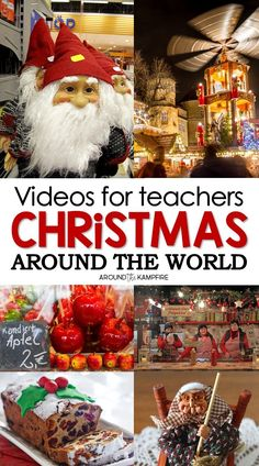 Christmas Around the World videos for teachers that kids love! Classroom approved videos for teaching and learning about Christmas traditions and holidays around the world. See unique holiday traditions up close with this comprehensive list of 14 videos and related books collected by a classroom teacher. #christmasaroundtheworld #christmasactivities #videos #holidaysaroundtheworld