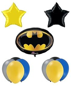 [Batman Birthday Party] Batman Birthday Party Balloon Supplies ** Find out more about the great product at the image link. (This is an affiliate link) #BatmanBirthdayParty