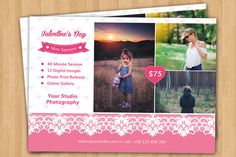 Valentines Day Mini Session Template  Valentines by TemplateStock