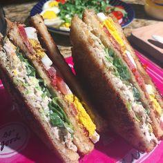 Caesar Salad Club Sandwiches