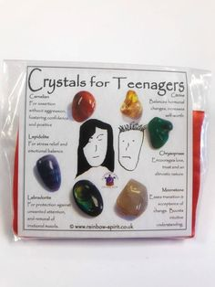 Crystal Set for Teenagers Crystal Magic, Crystal Healing Stones, Stones And Crystals, Emotions Cards, Witchcraft Spell Books, Emotional Stress, Crystal Meanings, Rocks And Gems, Natural Crystals