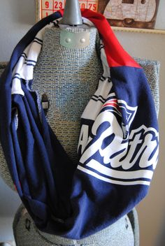 New England Patriots Upcycled TShirt Infinity by SeasonedWithStyle, $14.50