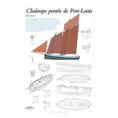 Chaloupe pontée de Port-Louis, Brennus, plan de modélisme