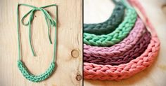 Necklace | Fabric necklace, Single crochet and Yarns