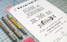 Bröllopsinbjudan Tant Johanna | Lovely Life