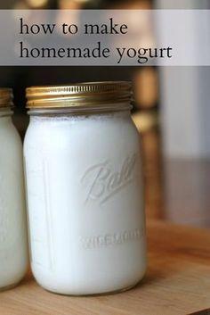 Step by step directions for making yogurt at home. No yogurt-making machine necessary!