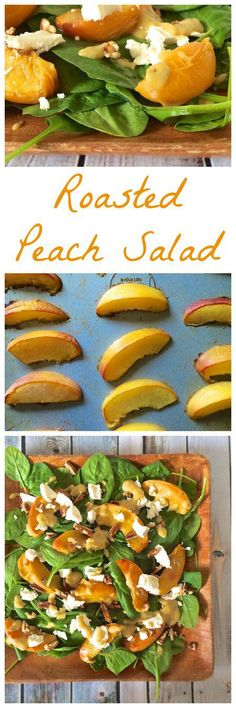 Celebrate healthy living in the South with this summer roasted peach salad topped with pecans, goat cheese and a fresh peach vinaigrette. From 4 Southern Staples, 4 Ways