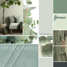 Gennaio 2018 - moodboard moda e arredamento - verde salvia Interior Paint Colors, Gray Interior, Paint Colors For Home, Interior Design Living Room, Room Colors, House Colors, Colours, Moodboard Moda, Interior Design Presentation