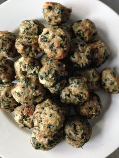 Spinach & Feta Turkey Meatballs - simple, healthy, delicious.  andwhatiate.com