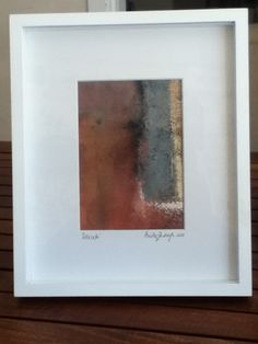 Also a smaller oil framed - i named this one 'Delicate' due to the delicate flow of colors.