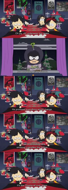 South Park Coon and Friends Mysterion Goth Kids