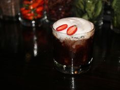 Last Tango in Modena with gin, muddled strawberries, aged balsamic vinegar and St. Germain foam -- from Matthew Biancaniello's Greatest Hits photo gallery