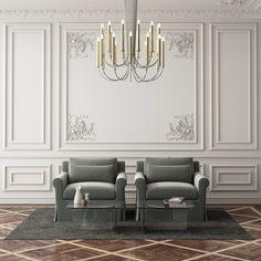 Home Room Design, Home Interior Design, Living Room Designs, Living Room Decor, House Design, Living Room Inspiration, Interior Design Inspiration, Design Ideas, Wainscoting Styles