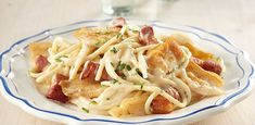 Gewokte Scholfilet Met Spaghetti Carbonara recept | Smulweb.nl