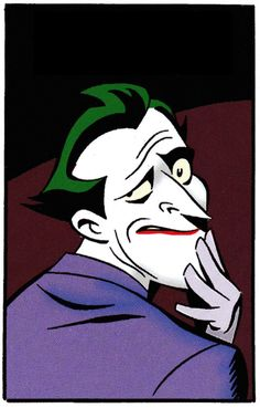 The Joker Smirks in Batman Adventures; Batman Comics, Dc Comics, Batman Vs, Comic Books Art, Comic Art, Du Dudu E Edu, Joker Dark Knight, Joker Art, Joker Pics