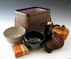 Japanese basket for tea ceremony items at www.Jcollector.com