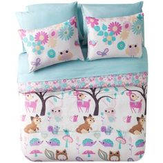 Mainstays Forest Friends Nature-Inspired Kids 5/7-Piece Bedding Comforter Set Image 4 of 6