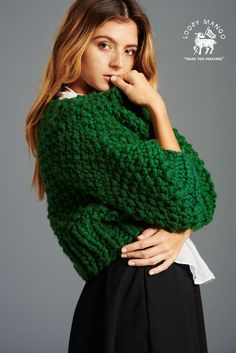 DIY Kit - Super Cropped Sweater - Chunky Merino Wool